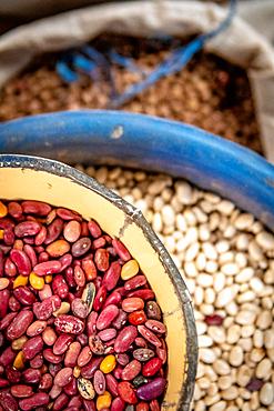 Dried beans for sale, Kimironko Market, Kigali Rwanda
