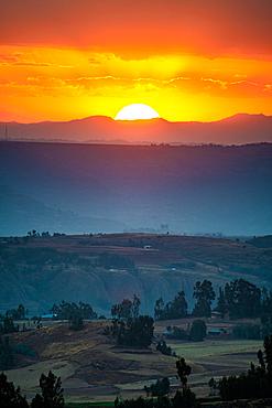 The rolling hillsides of Debre Berhan, Ethiopia.