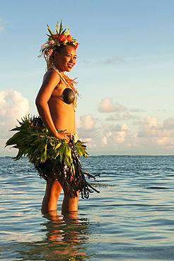 Tareguci Vulaono, dance performer at Shangri-La Resort, Viti Levu Island, Fiji.