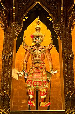 Thai puppet on display at Aksra Theatre in Bangkok, Thailand.