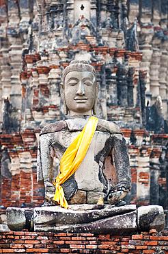 Buddha statue at Wat Chaiwatthanaram Buddhist temple in Ayutthaya, Thailand.