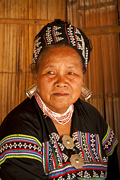 Woman in traditional dress at Baan Tong Luang village of Hmong people in rural Chiang Mai, Thailand.