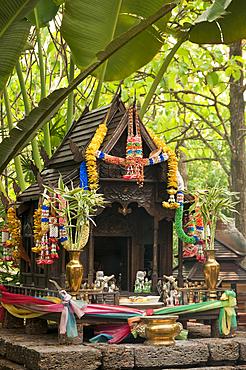 Buddhist shrine at the Four Seasons Resort, Chiang Mai, Thailand.