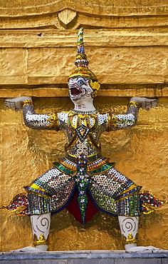 Guardian mythical demon or Yaksha at The Grand Palace; Bangkok, Thailand.