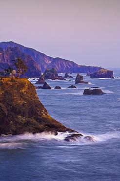 Sea stacks on southern Oregon coast at Samuel H. Boardman State Park.