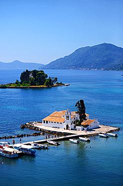 Vlacherna Monastery in Kanoni, Corfu, Greece