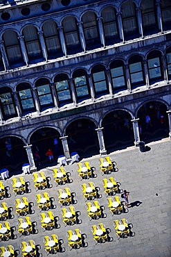 View of Piazza San Marco from the Campanile di San Marco (St. Mark's bell tower), Venice, Italy