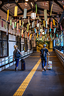 Cable car station in Koyasan (Mount K?ya), huge temple settlement in Wakayama Prefecture to the south of Osaka.