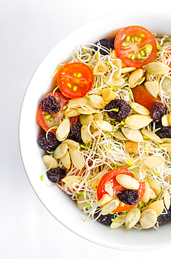 sprout salad with seeds