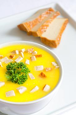 sweet potato soup with smoked tofu