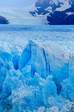 Detail images of the Perito Moreno Glacier in Los Glaciares National Park in the Patagonia region of Argentina, at the southern tip of South America.  A UNESCO World Heritage Site in Patagonia.