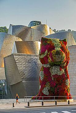 Puppy by Jeff Koons and Guggenheim Museum,  Bilbao, Spain