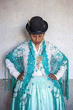Benita la Intocable, cholita female wrestler,El Alto, La Paz, Bolivia