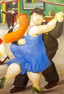 `Pareja bailando´ or `Couple dancing´ by Fernando Botero, Botero Museum, Bogota, Colombia