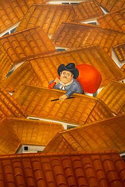 `El Ladrón´ by Fernando Botero, Botero Museum, Bogota, Colombia