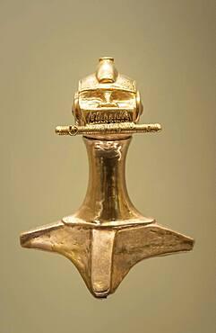Poporo, Pre-Columbian goldwork collection, Gold museum, Museo del Oro, Bogota, Colombia, America