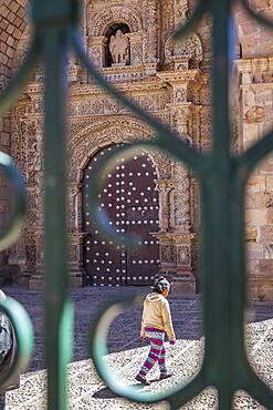 Facade of San Lorenzo church, Potosi, Bolivia