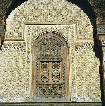 Inside Bou Inania Medrassa Courtyard, Fez, Morocco