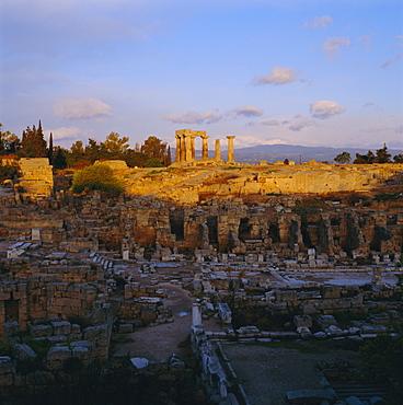 Temple of Apollo, Corinth, Greece, Europe