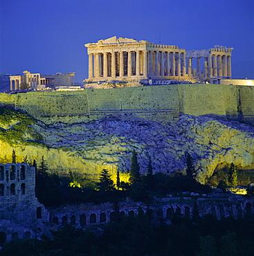 The Parthenon and Acropolis, UNESCO World Heritage Site, Athens, Greece, Europe