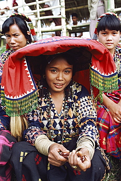 Women of the T'Boli tribal people, south Cotabato province, Mindanao, Philippines, Southeast Asia, Asia