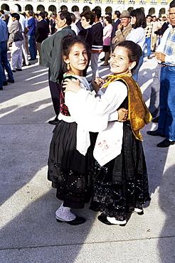 Children in folkloric costumes, Festa de Santo Antonio (Lisbon Festival), Lisbon, Portugal, Europe