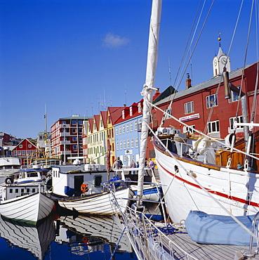 Thorshavn, capital of the Faroe Islands, a self-governing dependancy of Denmark, Europe