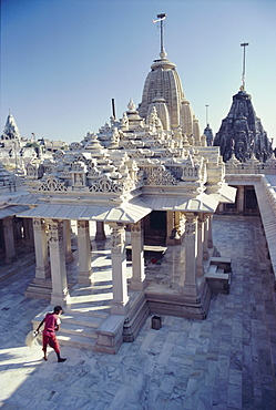 The Abode of the Gods, there are over 863 temples on this most sacred of Jain Holy Hills, Shatrunjaya Hill, Palitana, Gujarat, India