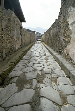 Street, Pompeii, Campania, Italy, Europe