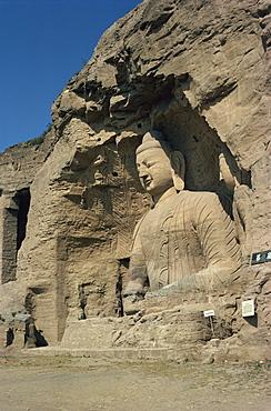 Yungang Buddhist Caves, Datang, Shanxi, China, Asia