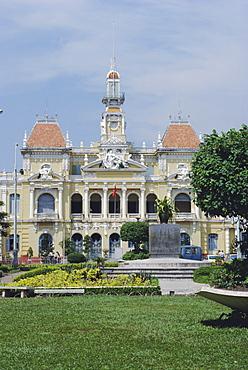 Headquarters of Communist Polit Bureau, Town Hall, Ho Chi Minh City (Saigon), Vietnam, Indochina, Asia