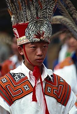 Little Flower headdress, Liupanshi, Guizhou, China, Asia