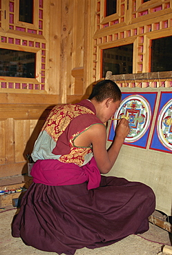 Regong art, Qinghai, China, Asia