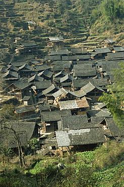 Typical Dong village near Rongjiang, Guizhou, China, Asia