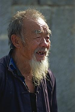 Old Han Chinese man, Guizhou, China, Asia