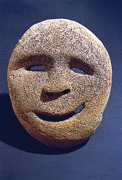 Eskimo whale bone mask, Portland Museum, Portland, Oregon, United States of America, North America