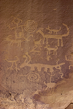 Petroglyphs, Chaco Canyon National Monument, New Mexico, United States of America, North America