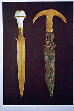 Daggers excavated at Ur, Iraq, Middle East