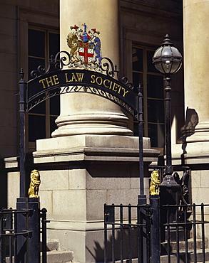 The Law Society entrance, London, England, United Kingdom, Europe