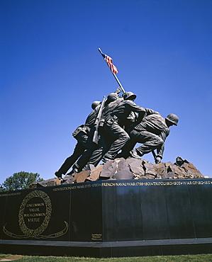 Iwo Jima War Memorial to the U.S. Marine Corps, Second World War, Arlington, Virginia, United States of America (USA), North America