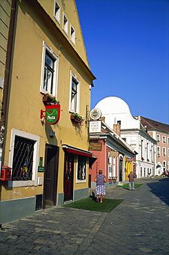 Shopping area, Szentendre, Hungary, Europe