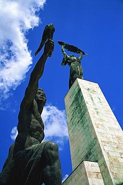 Liberty statue on Gellert Hill, Budapest, Hungary, Europe