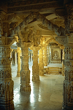 Interior, Dillawara Temple, Mount Abu, Rajasthan state, India, Asia - 2-16166