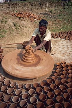 Potter, Assam, India, Asia