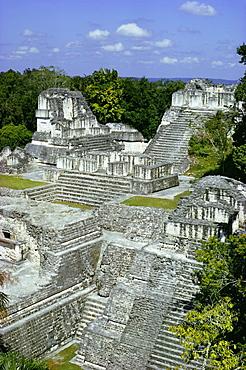 Northern Acropolis, Tikal, UNESCO World Heritage Site, Guatemala, Central America