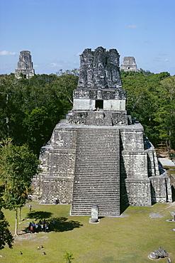 Temple II, Mayan archaeological site, Tikal, Guatemala, Central America