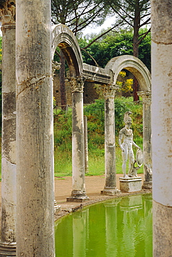 Hadrian's Villa, Canopus Canal, Tivoli, Lazio, Italy, Europe
