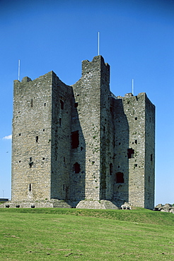 Trim castle, dating from the 12th century, and location for film Braveheart, County Meath, Leinster, Republic of Ireland (Eire), Europe