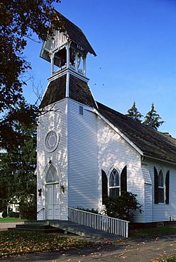 Clapboard Methodist church, Dutchess County, New York State, United States of America, North America