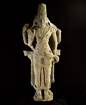 Stone statue of Vishnu, dating from 7th century AD, National Museum, Bangkok, Thailand, Southeast Asia, Asia